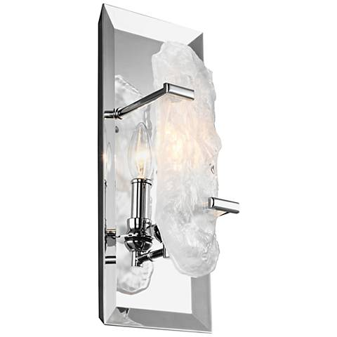"Feiss Katerina 15"" High Chrome Wall Sconce"