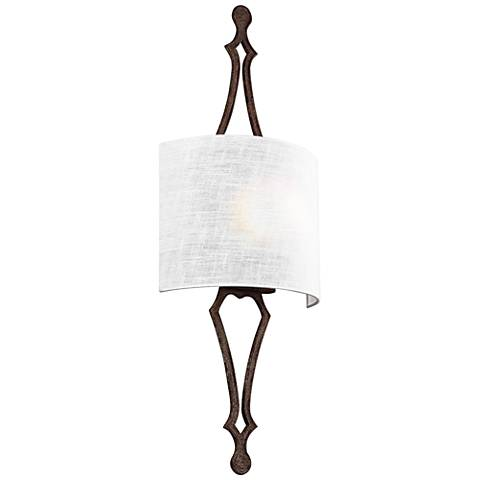 "Feiss Tilling 29 3/4"" High Weathered Iron Wall Sconce"