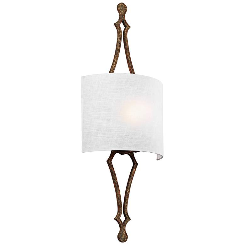 """Feiss Tilling 29 3/4"""" High Distressed Gold Leaf Wall Sconce"""