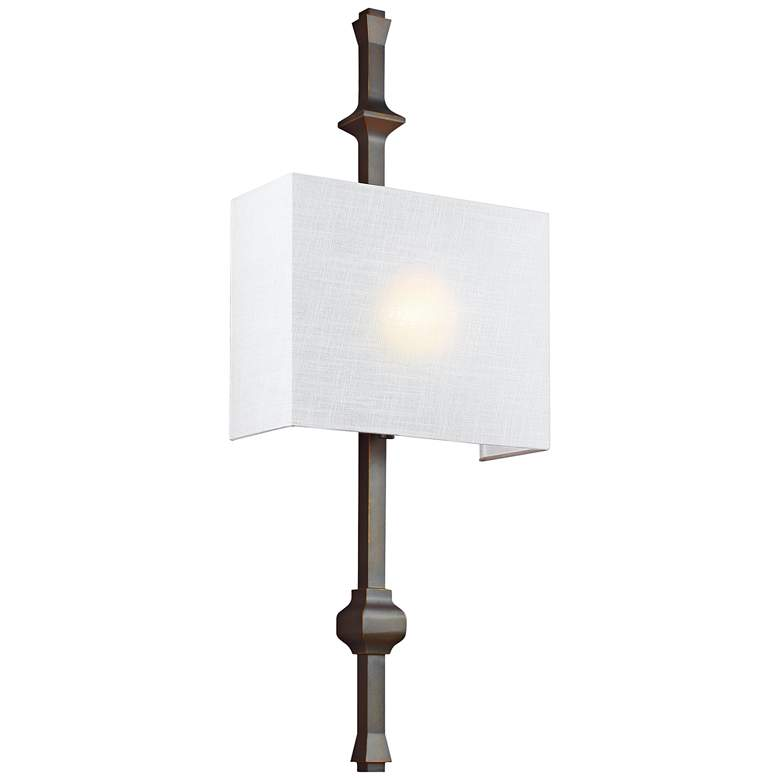 """Feiss Teva 30"""" High Antique Bronze Wall Sconce"""