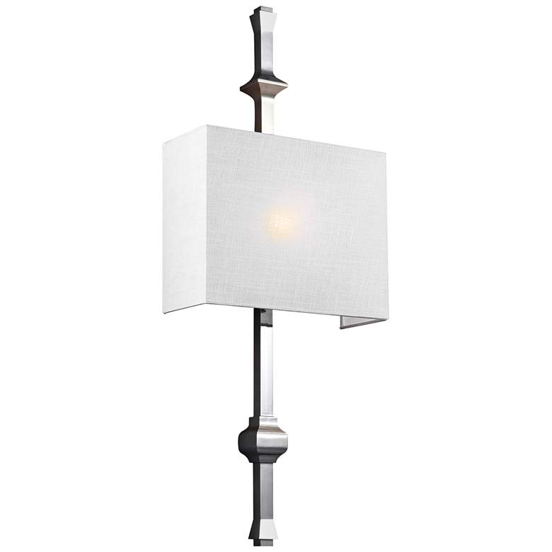 "Feiss Teva 30"" High Polished Nickel Wall Sconce"