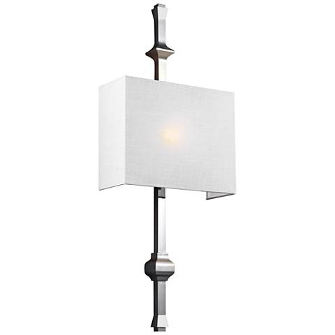 """Feiss Teva 30"""" High Polished Nickel Wall Sconce"""