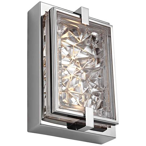 "Erin 9"" High Polished Stainless Steel LED Outdoor Wall Light"
