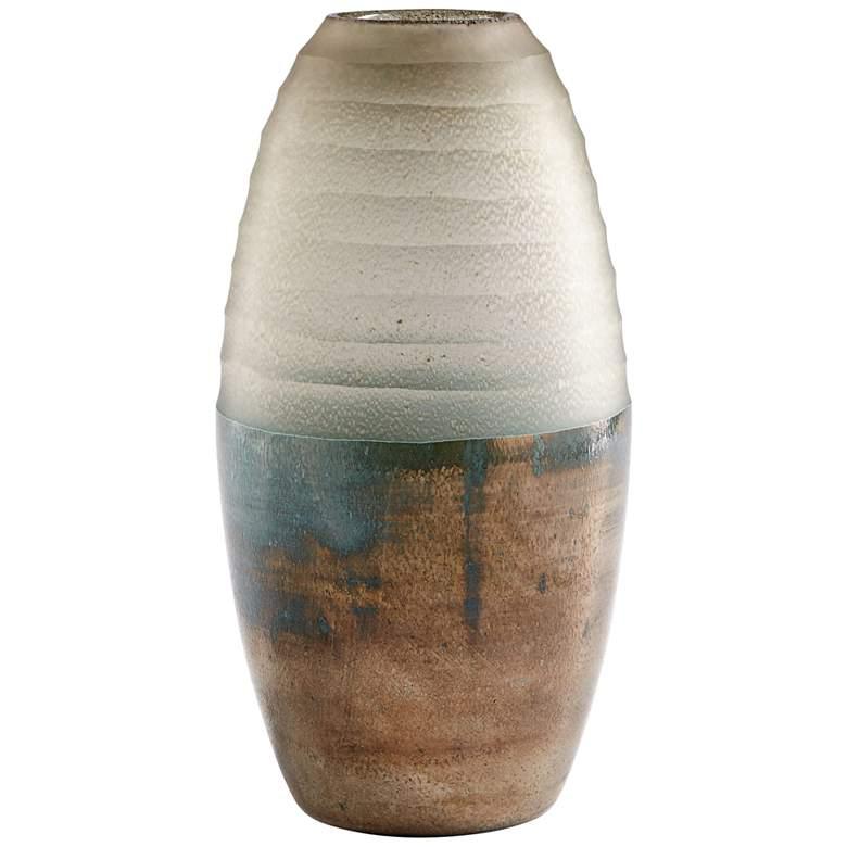 """Cyan Design Around The World 11 1/2"""" High Bronze Glass Vase"""