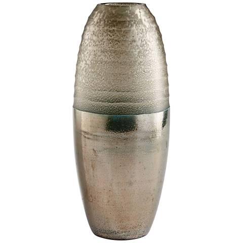 """Cyan Design Around The World 15 1/2"""" High Bronze Glass Vase"""