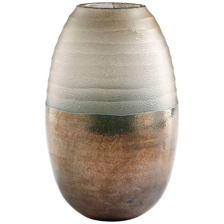 """Cyan Design Around The World 11 3/4"""" High Bronze Glass Vase"""