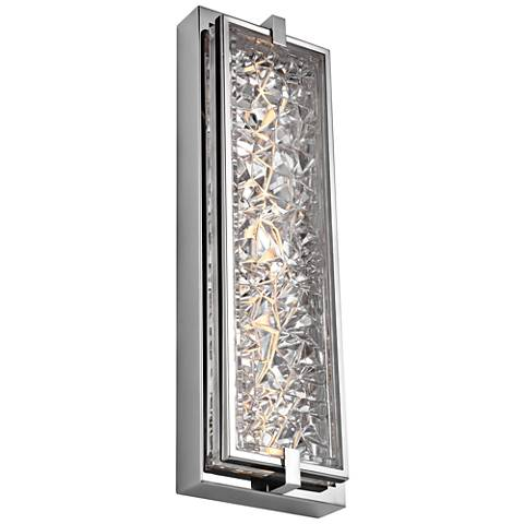 """Erin 19""""H Polished Stainless Steel LED Outdoor Wall Light"""
