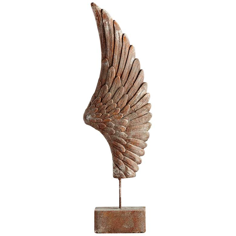 """Cyan Design Feathers Of Flight Right 36""""H Rustic Sculpture"""