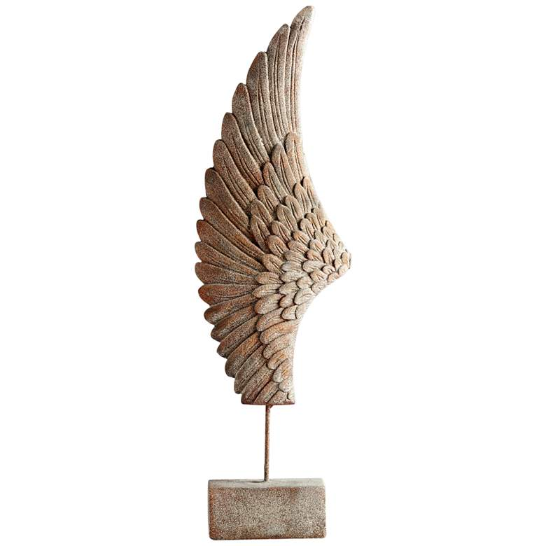 "Cyan Design Feathers Of Flight Left 36""H Rustic Sculpture"