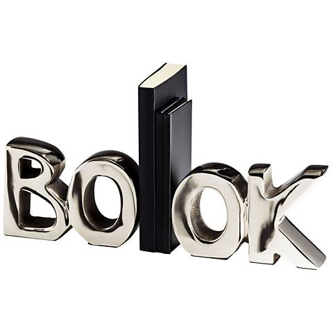 Cyan Design The Book Polished Nickel Sculpture Modern Bookends