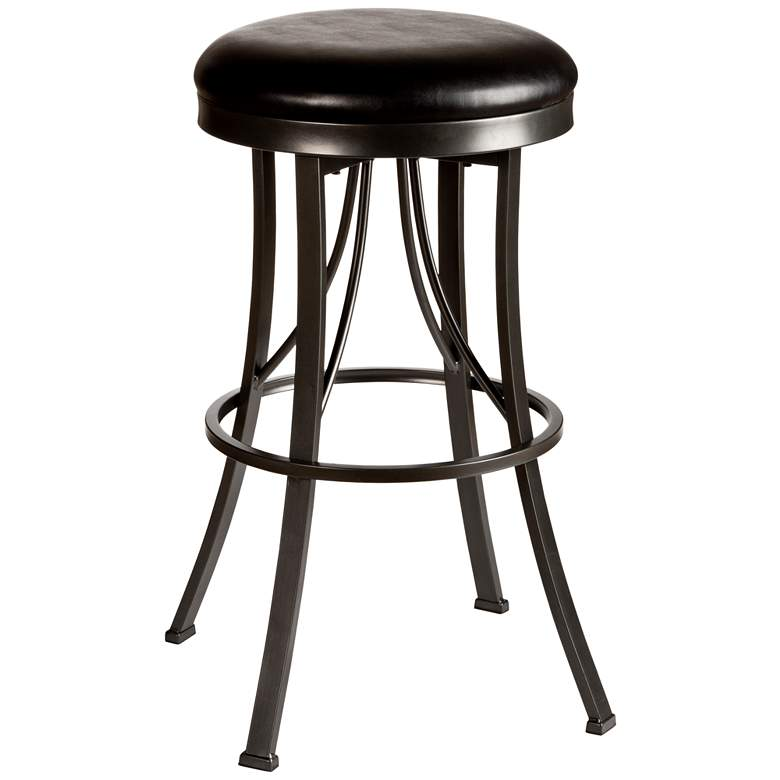 "Hillsdale Ontario 26"" Black Vinyl Swivel Counter Stool"