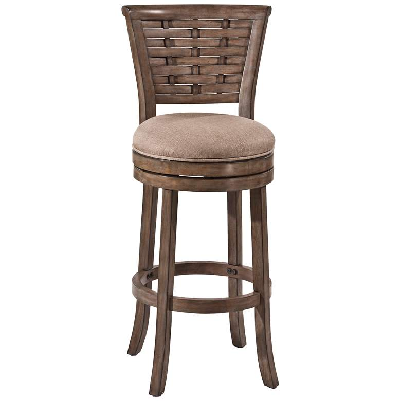 "Hillsdale Thredson 26"" Putty Fabric Swivel Counter Stool"