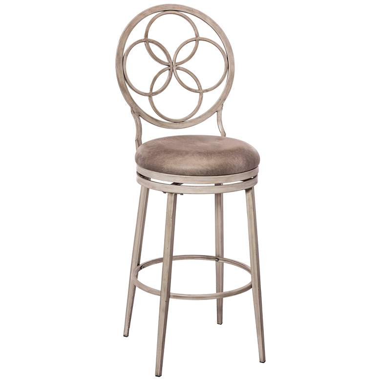 """Donnelly 26"""" Granite Faux Leather Swivel Counter Stool"""