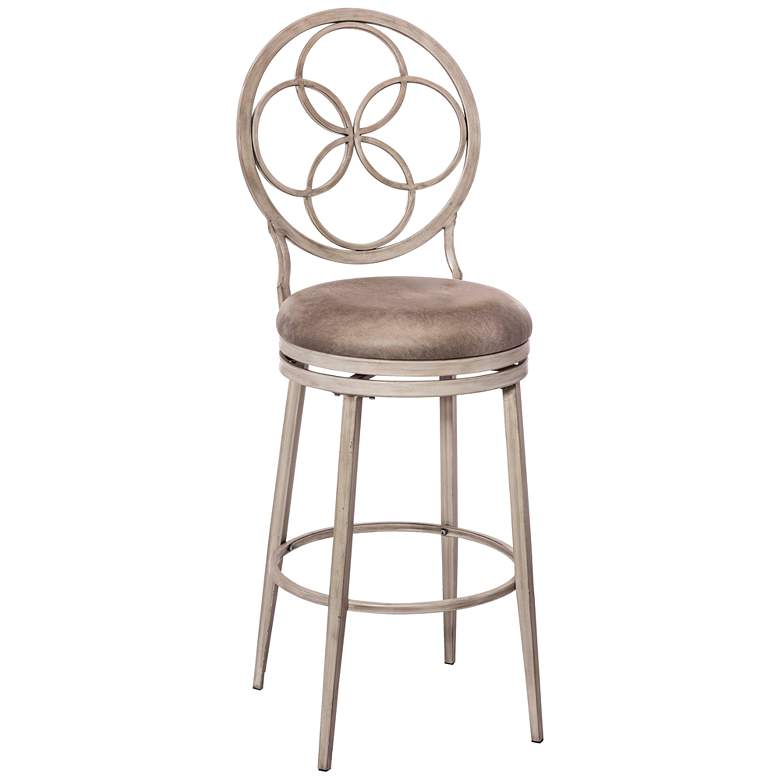 "Hillsdale Donnelly 30"" Granite Faux Leather Swivel Barstool"