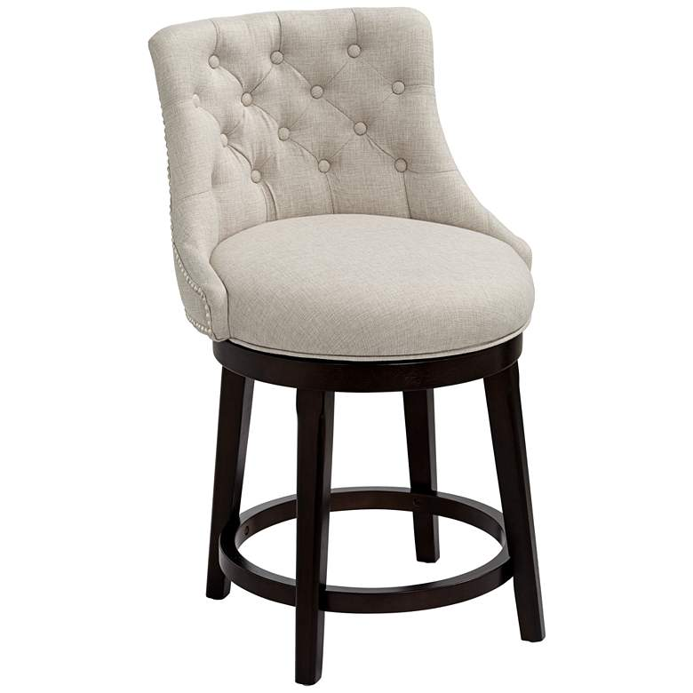 Remarkable Hillsdale Halbrooke 25 Cream Fabric Swivel Counter Stool Unemploymentrelief Wooden Chair Designs For Living Room Unemploymentrelieforg