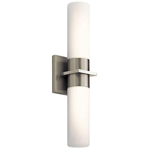 "Elan Hawn™ 18"" High Brushed Nickel 2-LED Wall Sconce"