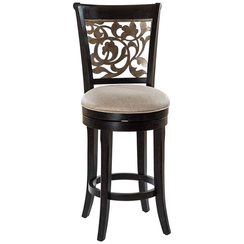 "Hillsdale Bennington 26"" Putty Fabric Swivel Counter Stool"