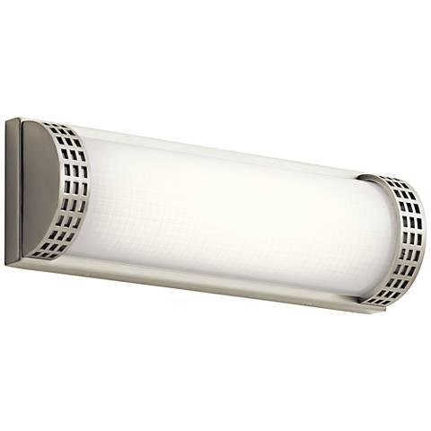 "Elan Column 15"" Wide Brushed Nickel LED Bath Light"