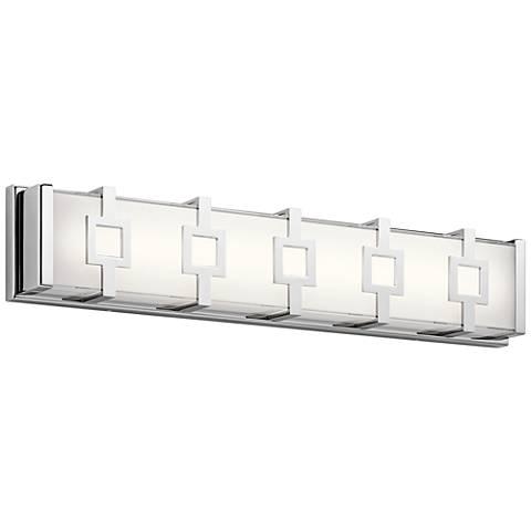 """Elan Velitri™ 24"""" Wide Chrome LED Bath Vanity Light"""