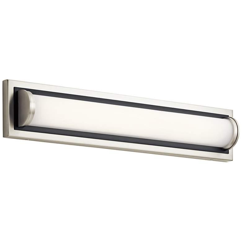 "Elan Sandro 24"" Wide Brushed Nickel w/ Black LED Bath Light"