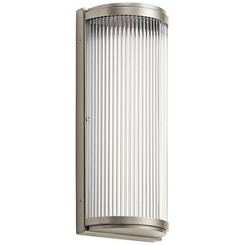 """Elan Filter 13 3/4"""" High Brushed Nickel LED Wall Sconce"""