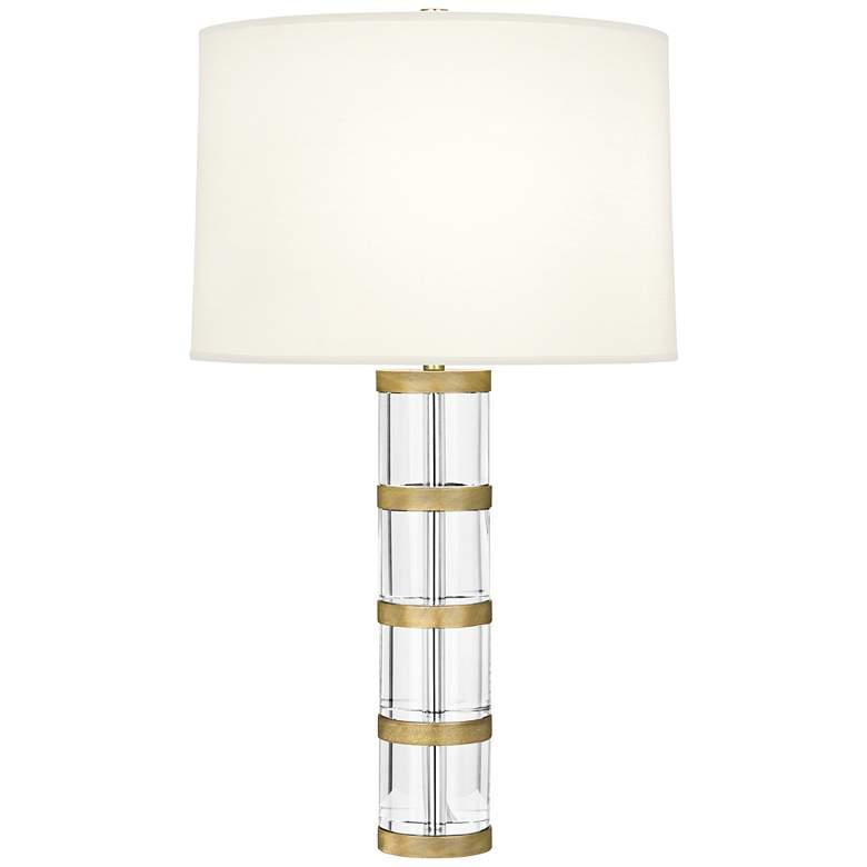Robert Abbey Wyatt Modern Brass Table Lamp with White Shade