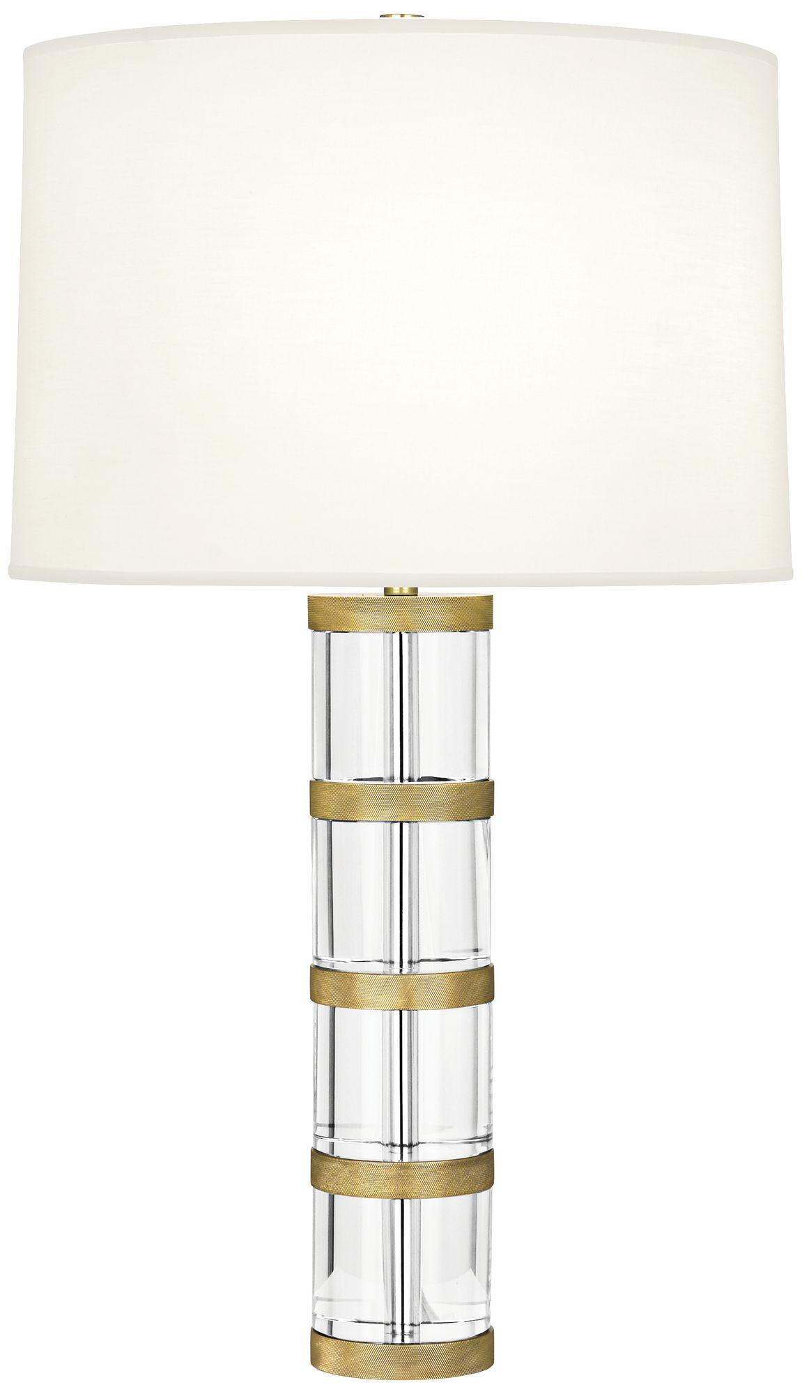 Robert Abbey Wyatt Modern Brass Table Lamp With