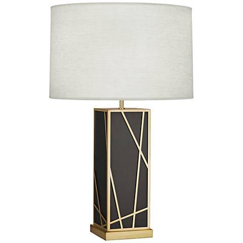 Michael Berman Kerr Bronze Tall Table Lamp w/ Oyster Shade