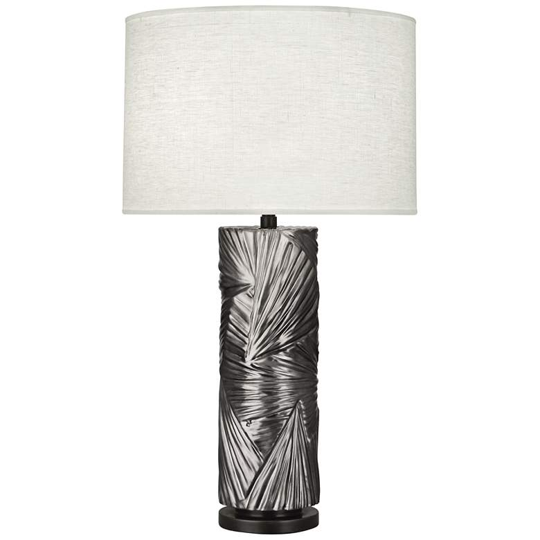 Michael Berman Lucien Blackened Antique Silver Table Lamp