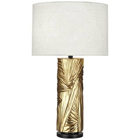 Michael Berman Lucien Modern Brass Table Lamp