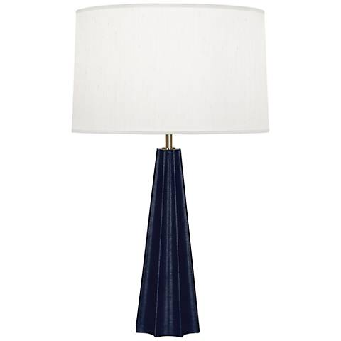 Robert Abbey Anna Navy Faux Snakeskin Column Table Lamp