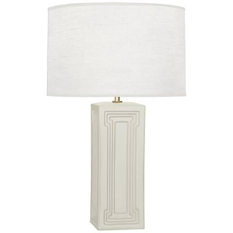 Robert Abbey Nottingham Bruton White Ceramic Table Lamp