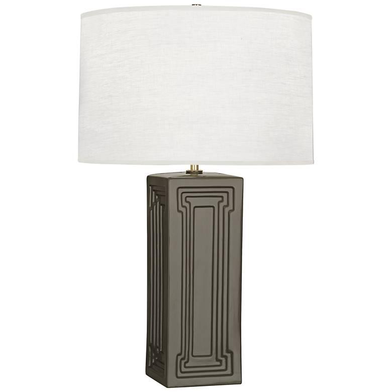 Robert Abbey Nottingham Carter Gray Ceramic Table Lamp