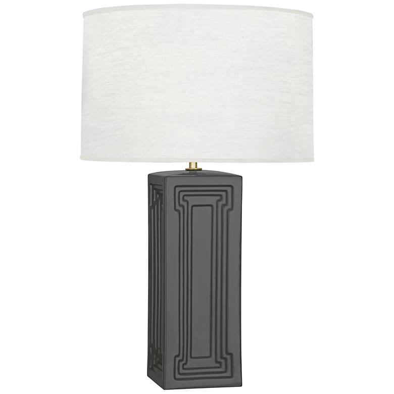Robert Abbey Nottingham Lamp Black Glaze Ceramic Table Lamp