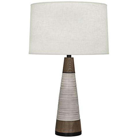 Berkley Antique Oyster Tapered Table Lamp with Cream Shade