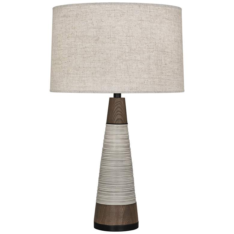 Berkley Antique Oyster Tapered Table Lamp w/ Heather Shade