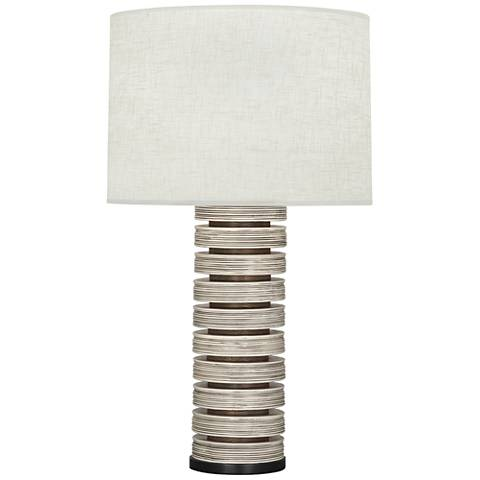 Berkley Antique Oyster Stacked Table Lamp with Cream Shade