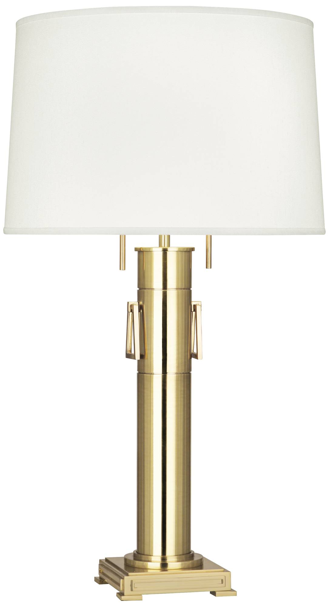 Robert abbey athena modern brass column table lamp 19n61 lamps plus