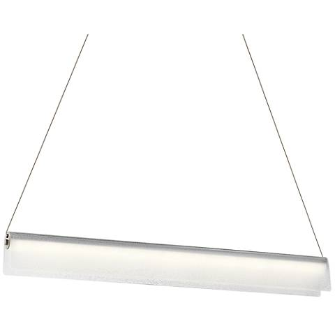 "Elan Rainfall 36"" Wide Brushed Nickel LED Island Pendant"