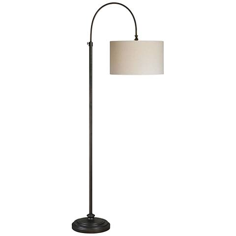 Forty West Reagan Oil Rubbed Bronze Adjustable Arc Floor Lamp