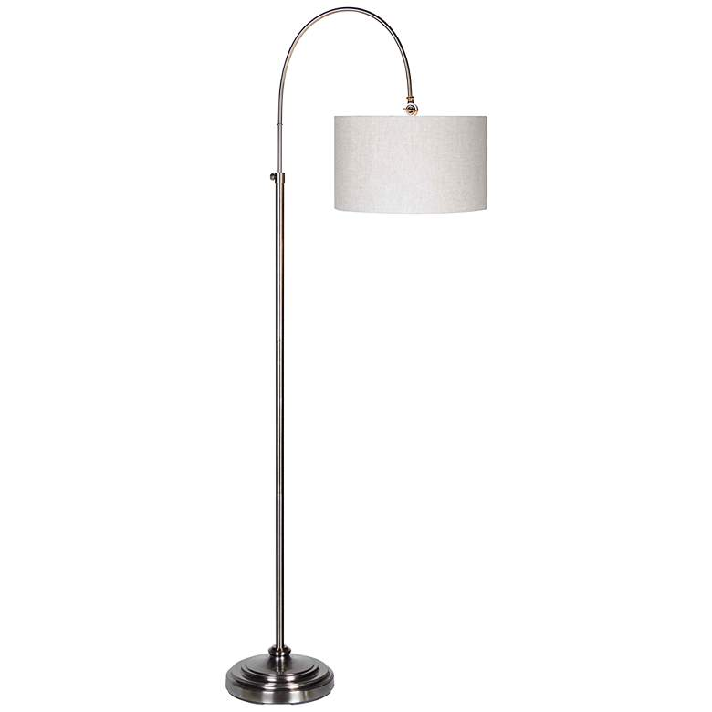Forty West Porter Plated Pewter Adjustable Arc Floor Lamp