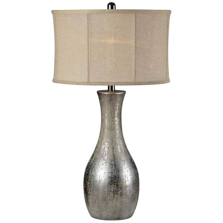 Forty West Hazel Antique Silver Leaf Jug Table Lamp