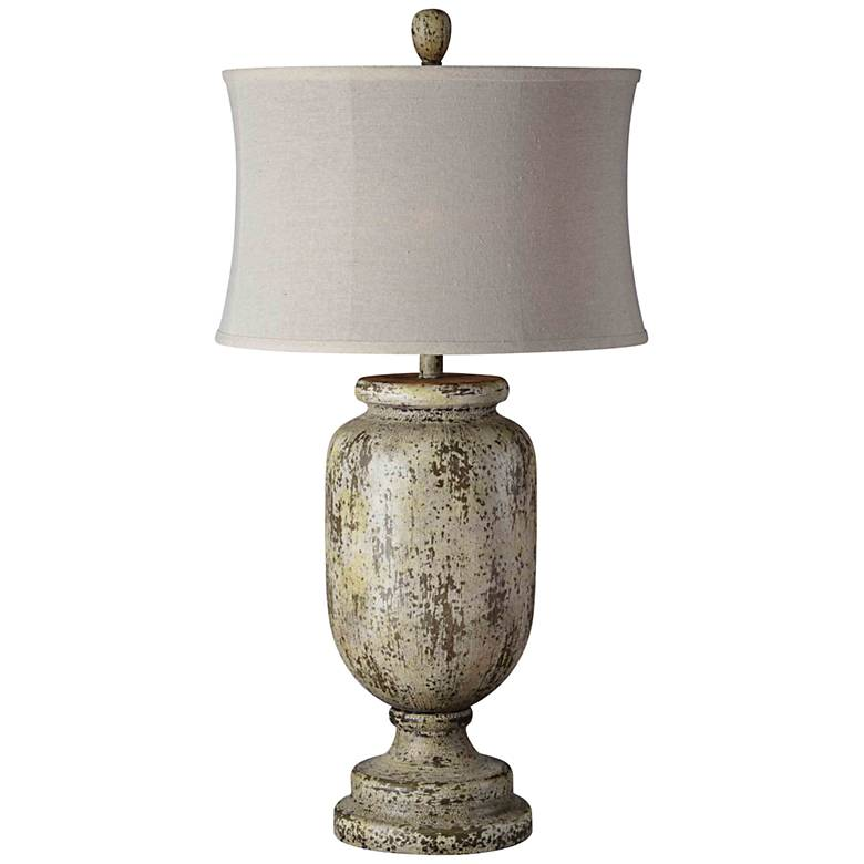 Forty West Grace Distressed Ivory Urn Table Lamp