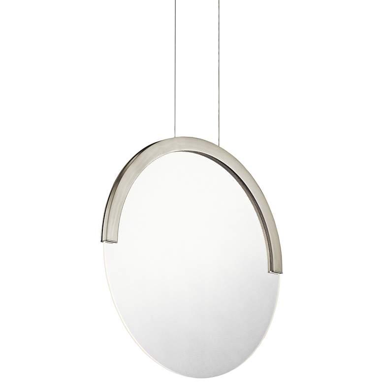 "Elan Slice 15"" Wide Brushed Nickel LED Pendant Light"