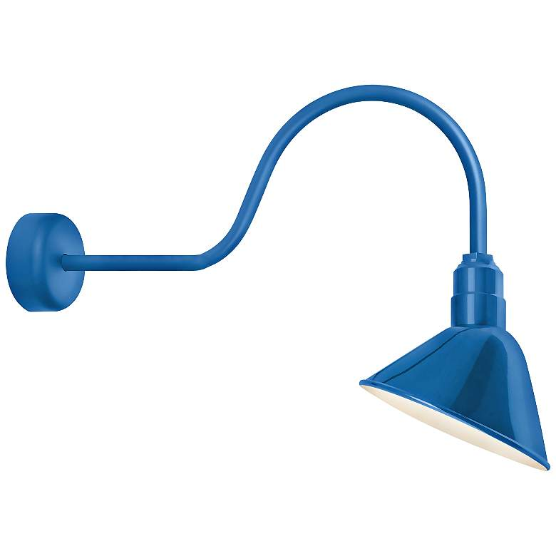 "Angle Reflector 24 1/2"" High Blue Outdoor Wall"