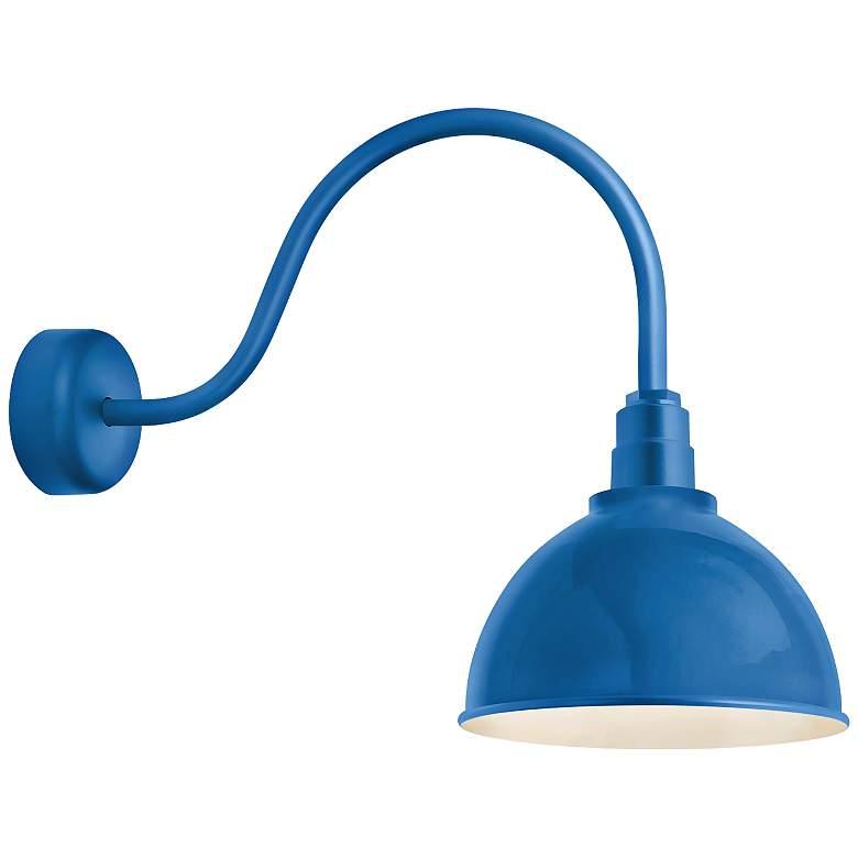 """Deep Reflector 26"""" High Blue Outdoor Wall Light"""