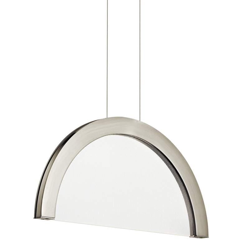 "Elan Slice 20"" Wide Brushed Nickel LED Pendant Light"