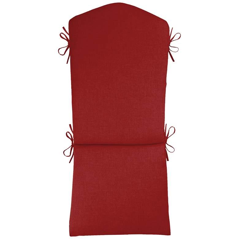 """Sunbrella Kali Canvas Jockey Red 45"""" High Adirondack Cushion"""