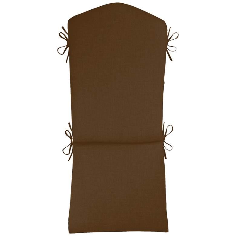 "Sunbrella Kali Canvas Teak 45"" High Adirondack Cushion"