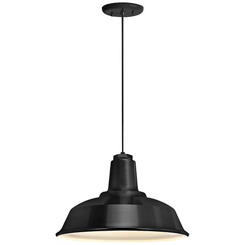 "Heavy Duty 9 1/4"" High Black Outdoor Hanging Light"